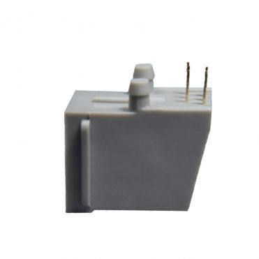 6P6C RJ12 RJ18 RJ25 Side Entry Flat Pin 30u PCB Modular Jack Side View
