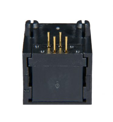 AST Labs 6P4C RJ11 Low Profile Side Entry 15u PCB Jack Back View